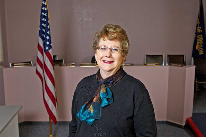 by: JAIME VALDEZ - A LIFE WELL LIVED - Suzan Turley, shown here at King City City Hall, is president of the King City City Council as well as active in several organizations.