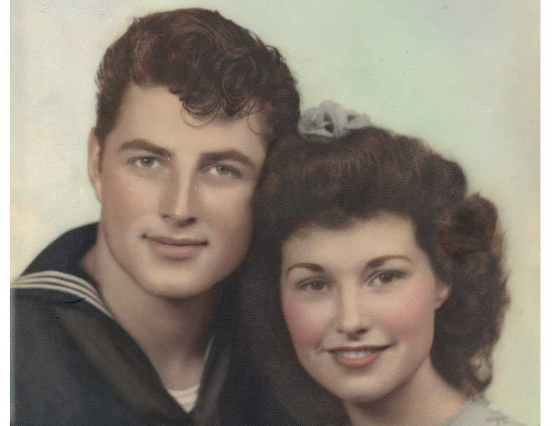 by: COURTESY OF DON AND JEAN HECKLER - WAR BRIDE AND GROOM - Don and Jean Heckler get married June 9, 1944, when he got an unexpected six-day leave before shipping out with the Coast Guard.