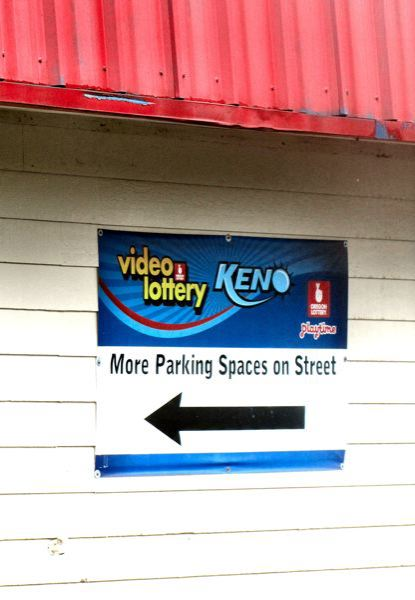 by: ERIC NORBERG - The 1990 OLCC restriction against encouraging the customers of the gentleman's club at this site to park on the adjacent residential street was originally omitted, apparently by mistake, from its license renewal a few years back. The new owners, who renamed the club -Blush's, have posted a sign inviting them to do it with, it appears, the assistance of the Oregon Lottery Commission! The latest OLCC license renewal on - Blush's did not restore the previous restrictions, despite requests from the neighbors and from the SMILE neighborhood association.