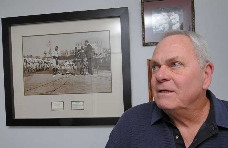 by: REVIEW, TIDINGS PHOTOS: VERN UYETAKE - Ray Dahlgrens home in West Linn is filled with memorabilia of his dads career with eight Major League teams.