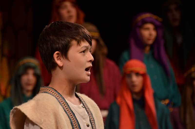 by: TIDINGS PHOTO: VERN UYETAKE - Nathaniel Colman plays the lead role of Joseph on the 'N' cast of the Middle School Musical.