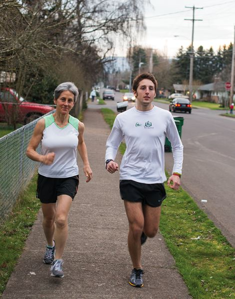 by: CHASE ALLGOOD  - Elena Parker, 55, of Forest Grove, and her son Grayson Penfield, 21, a Forest Grove High School graduate and currently a junior at the University of Portland, qualified for the 117th annual Boston Marathon, which will take place on April 15.