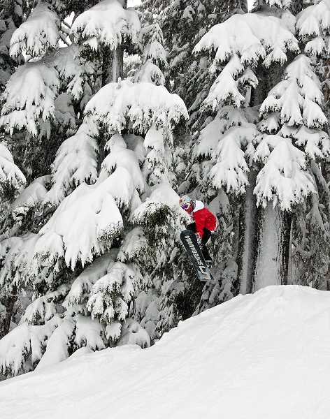 by: SUBMITTED PHOTO: HUDSON HENRY - Graham Leib catches some air at Mt. Hood Meadows.