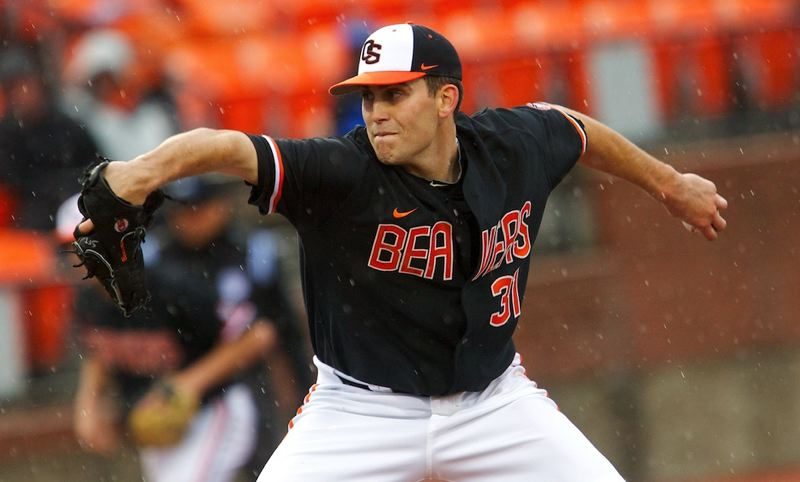 by: COURTESY OF OREGON STATE UNIVERSITY - Oregon State senior Matt Boyd, a former hockey player and first baseman-outfielder, has developed into a top starter. He does some things right-handed, but pitches left-handed.