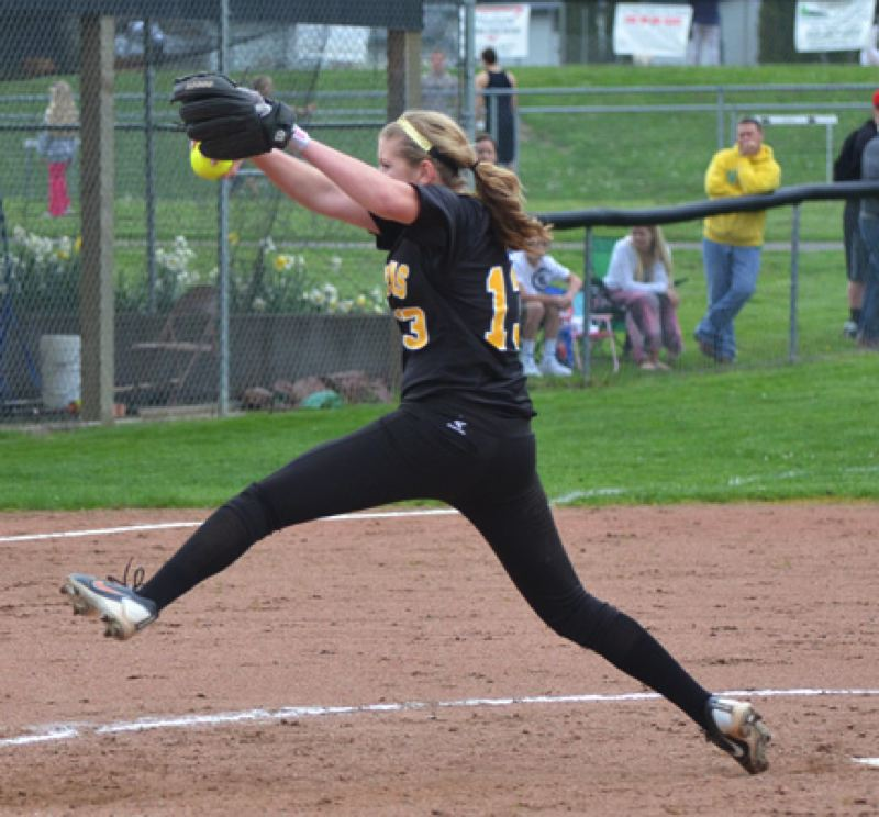 by: JOHN BREWINGTON - St. Helens' Mariah Mulcahy may be the state's top 5A pitcher.