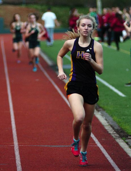 by: DAN BROOD - RECORD SETTER -- Hannah Cesario has already set a new school record in the 1,500 meter run this season.