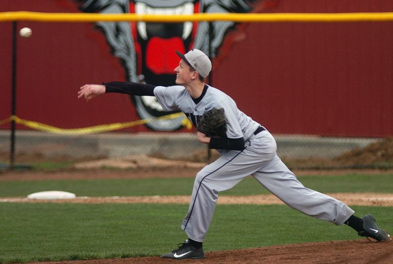 by: DAN BROOD - JACK IS BACK -- Tualatin High School senior Jack McDonnell, back from an injury that kept him out of the majority of the basketball season, could be a key pitcher for the Timberwolves this season.
