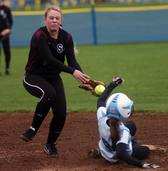 by: DAN BROOD - IN THE INFIELD -- Sophomore Katie Zook should be a key returnee for the Lady Bowmen.