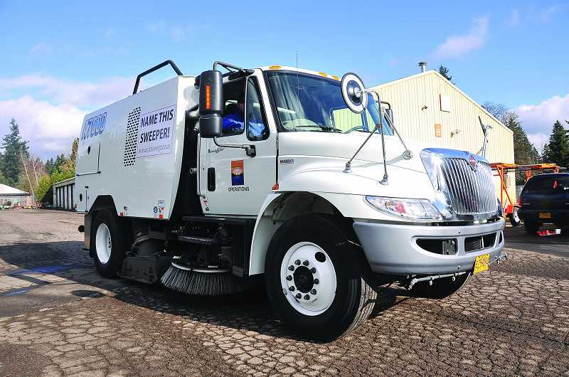 by: VERN UYETAKE - The city held a naming contest for its newest street sweeper in hopes of giving the heavy-duty equipment some personality.