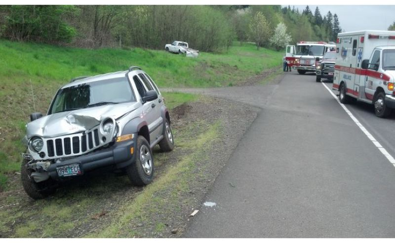 by: OREGON STATE POLICE - This photograph shows the scene of the crash near Highway 213 and Beavercreek Road on Wednesday.