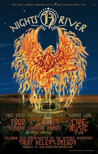 by: ART BY STEVE JOHANNSEN - Local artist Steve Johannsen has created a series of 13 Nights posters over the years, including this year's fiery art.