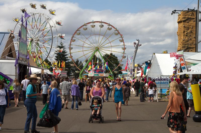 by: HILLSBORO TRIBUNE PHOTO: CHASE ALLGOOD - The Washington County Fair Board and the Washington County Fairground Boosters have been at odds at times over the best way to run the annual county fair. The popular event offers a variety of activities to attract visitors.