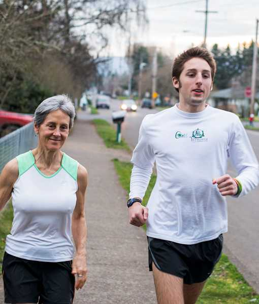by: NEWS-TIMES FILE PHOTO: CHASE ALLGOOD - Forest Groves Elena Parker and her son, Grayson Penfield, finished Mondays Boston Marathon before dual bomb blasts killed three people and injured more than 100.