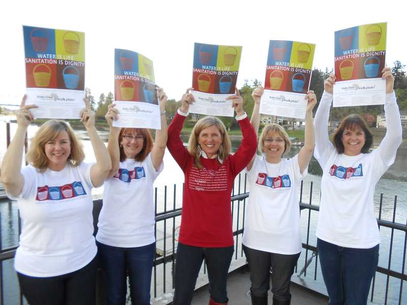 by: CLIFF NEWELL - The 2013 Walk4Water 6 planning committee is already in high gear when it comes to enthusiasm. From left are Sharron Reichle, Laurie Brown, Linda Favero, Mary Austin and Beth Olen.