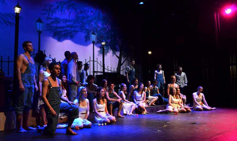by: PHOTO: VERN UYETAKE -  Company performs 'Down to the River.'