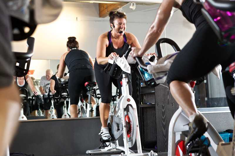 by: TIMES PHOTO: JAIME VALDEZ - Paula Reed leads cycle bootcamp classes, small group training and personal training, as well as offers nutritional support and supplements in her new business.
