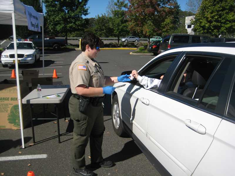 by:  CLACKAMAS COUNTY SHERIFF'S OFFICE - At last year's drug take-back event, the Clackamas County Sheriff's Office collected more than 600 pounds of drugs.