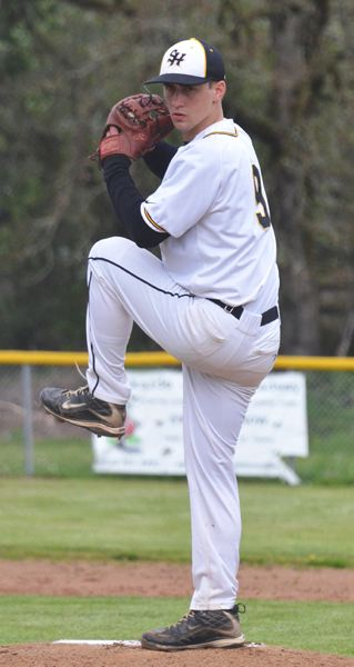 by: JOHN BREWINGTON - St. Helens' Wyatt Mosley has had some good outings on the mound this season for the young Lions.