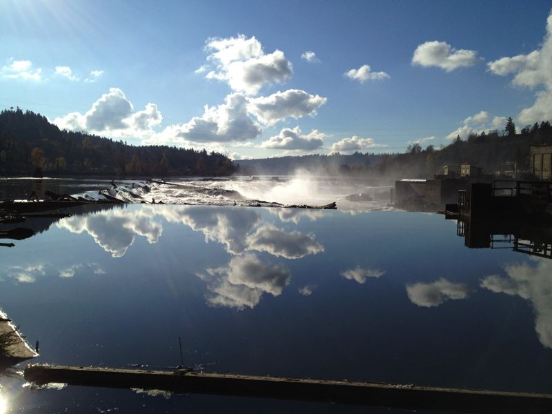 by: PHOTO COURTESY: OREGON CITY - After Blue Heron closed operations, laying off 175 employees, the Willamette Falls property was put up for sale under the management  of a bankruptcy trustee.