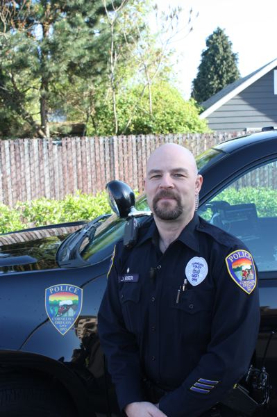 by: HILLSBORO TRIBUNE PHOTO: DOUG BURKHARDT - Officer Jason Moser of the Cornelius Police Department has been named as Oregons DUII Enforcement Trainer of the Year.