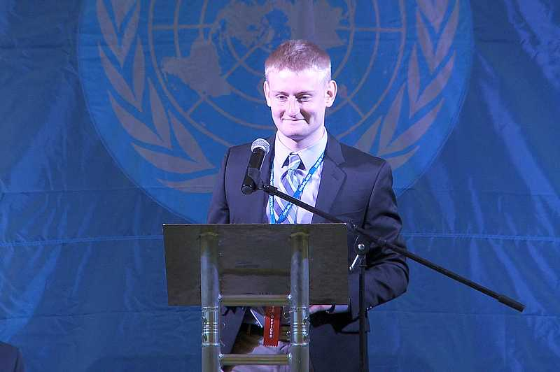 by: SUBMITTED PHOTO: JES WEBB - Lake Oswego High School's Jamie MacRitchie was one of two vice presidents for the Oregon Model United Nations this year.
