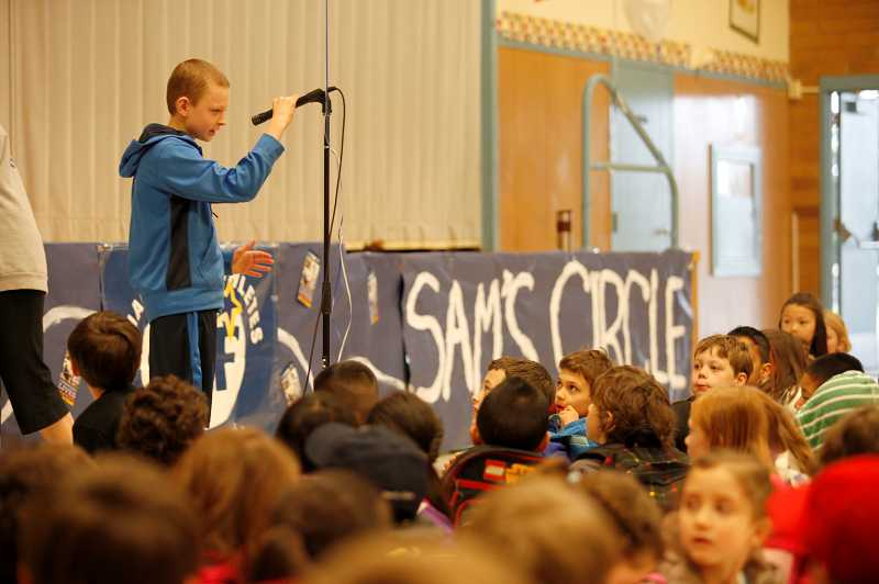 by: TIMES PHOTO: JONATHAN HOUSE - Hundreds of his fellow schoolmates find Sam Day an inspiration.
