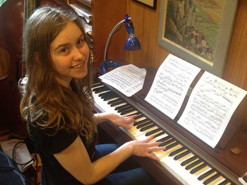 by: SUBMITTED PHOTO - Claire Williams, 14, of Lake Oswego has been working with Fear No Music's Young Composers Project.