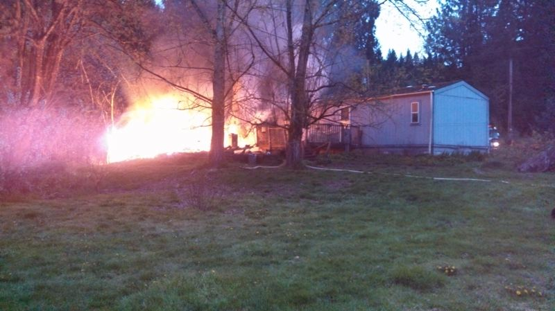 by: COLUMBIA RIVER FIRE AND RESCUE - A fire destroyed a historic bunkhouse at a Hancock Drive residence April 19. While the cause is not yet known, many recent fires in St. Helens have been tied to electrical issues, said Columbia River Fire and Rescue Chief Jay Tappan.
