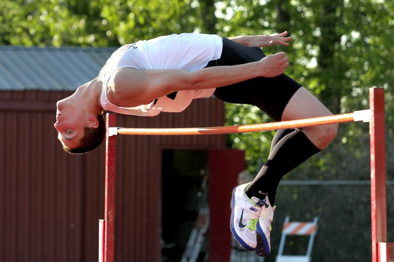 by: JONATHAN HOUSE - Clackamas senior Max Jette had a good day in the high jump in last weeks dual meet at Oregon City, clearing a personal best and Class 6A states best 6-7.