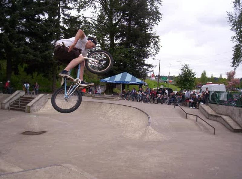 by: PHOTO COURTESY: PIONEER FEST - BMX bikers will compete at the Pioneer Family Festival on Sunday, May 5, at the Oregon City Skate Park at Clackamette Park.