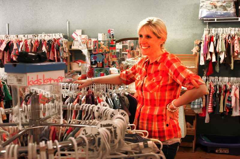 by: OUTLOOK PHOTO: JIM CLARK - Cari Floyd, owner of All About Kids, started her business with almost no retail experience.