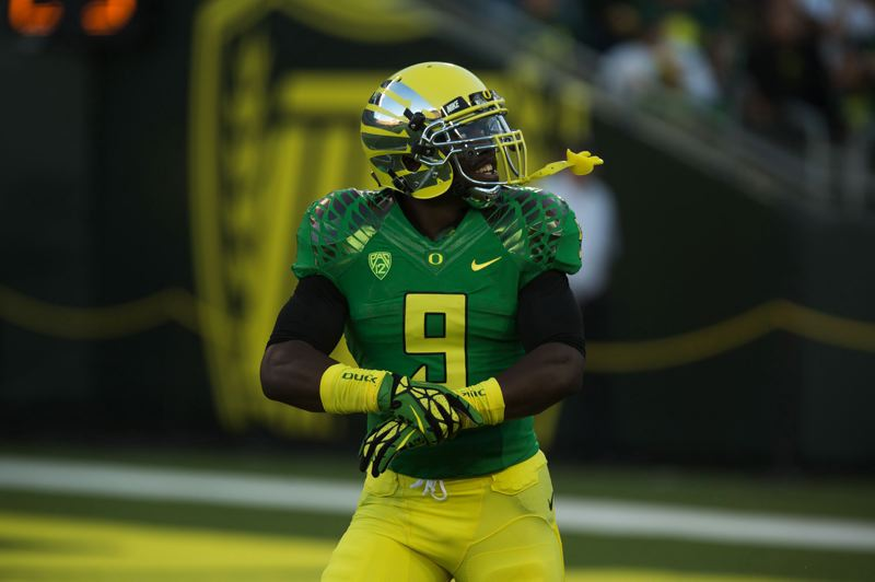 by: TRIBUNE FILE PHOTO: CHRISTOPHER ONSTOTT - Sophomore Byron Marshall is the leading candidate to start and get the most carries at running back for the 2013 Oregon Ducks.