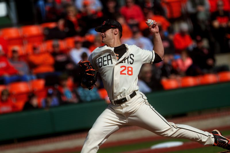 by: COURTESY OF OREGON STATE UNIVERSITY - Junior Ben Wetzler has been a strong starter on Sundays for Oregon State's highly ranked baseball team.