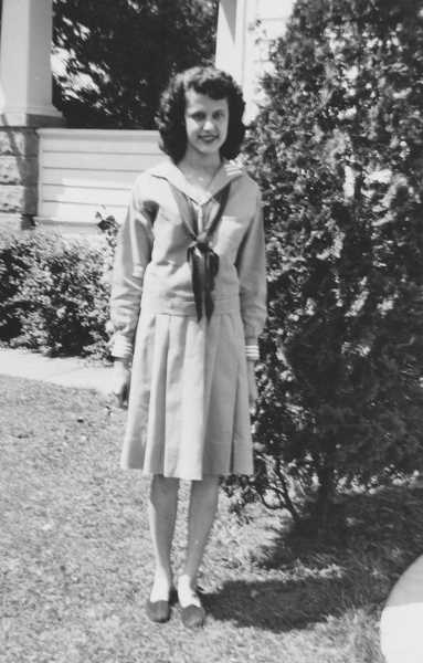 by: SUBMITTED PHOTO - Jo Ann Parsons in her 4-H uniform, circa 1946.