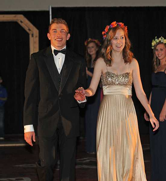 by: REVIEW PHOTO: VERN UYETAKE - Sarah Sutton, the queen of May Fete, and her escort, Nick King, enjoy the festivities.