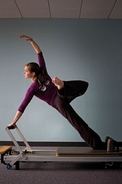 by: TRIBUNE PHOTO: CHRISTOPHER ONSTOTT - Leslie Braverman helped pave the way for dancers moving into second careers, and 24-year-old Holly Shaw, a BodyVox performer, has followed her lead at Pacific NW Pilates.