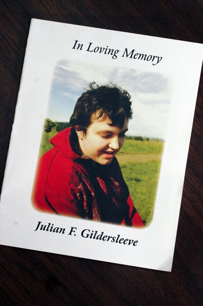 Julian Gildersleeve, who has lived with autism and developmental disabilities since childhood, died April 2 of liver failure.