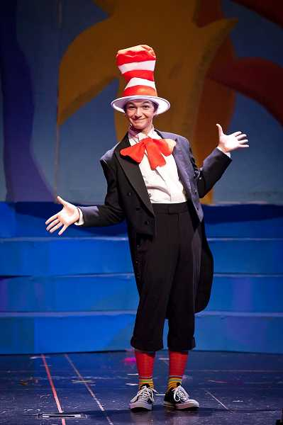 by: SUBMITTED PHOTO: DAVID KINDER - As a freshman, Steve Rathje played the Cat in the Hat in Seussical the Musical.