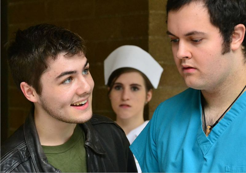by: CONTRIBUTED PHOTO - Mt. Hood Community College presents the student-directed 'One Flew Over the Cuckoo's Nest' Thursday through Saturday. The play is based on Ken Kesey's famous book about the treatment of mental patients.