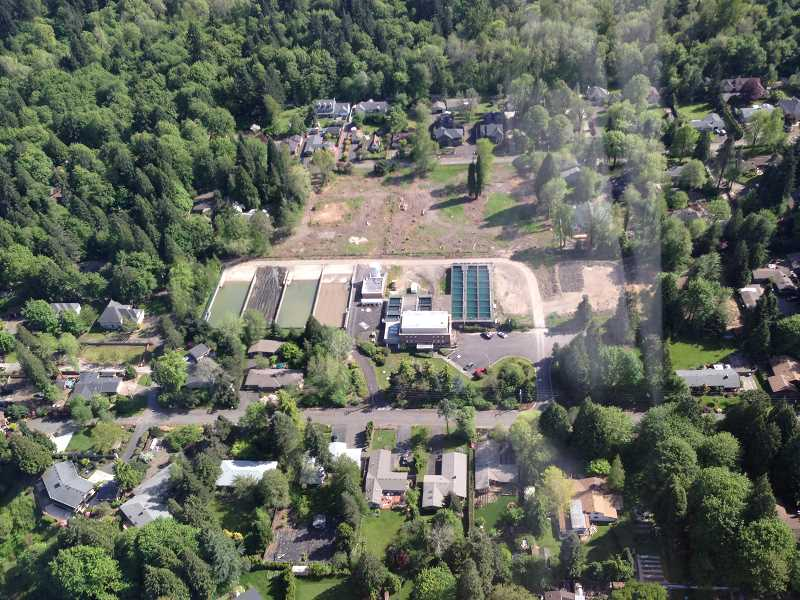 by: SUBMITTED - This is an aerial photo of the Lake Oswego Water Treatment Plant, which is located in West Linn.