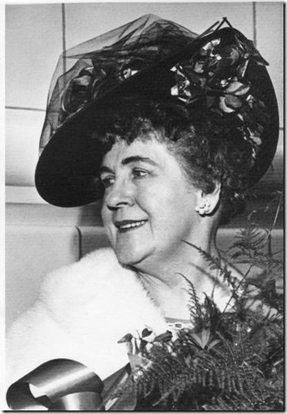 by: COURTESY: PORTLAND WOMEN'S FORUM - Gertrude Glutsch Jensen was known for her flambouyant hats, tenacity and her work protecting the Columbia River Gorge from development.