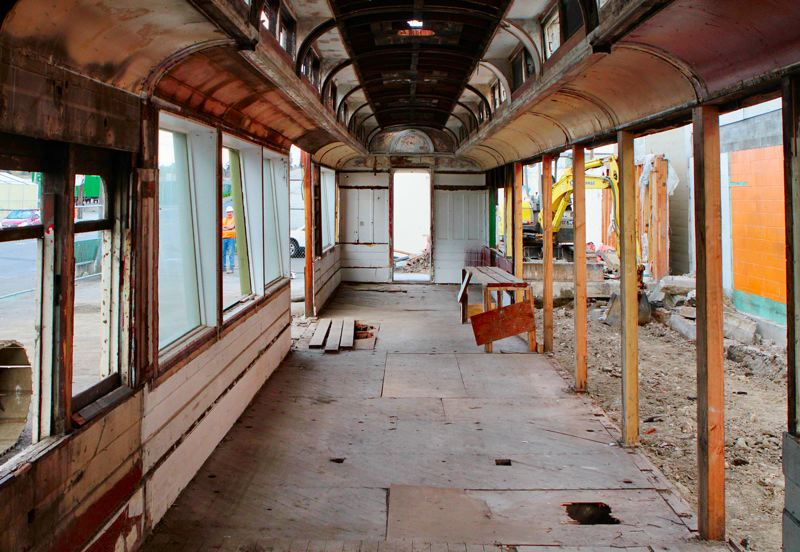 by: DAVID F. ASHTON - Looking at whats left of the inside, its clear that this will never again be a rolling railcar.