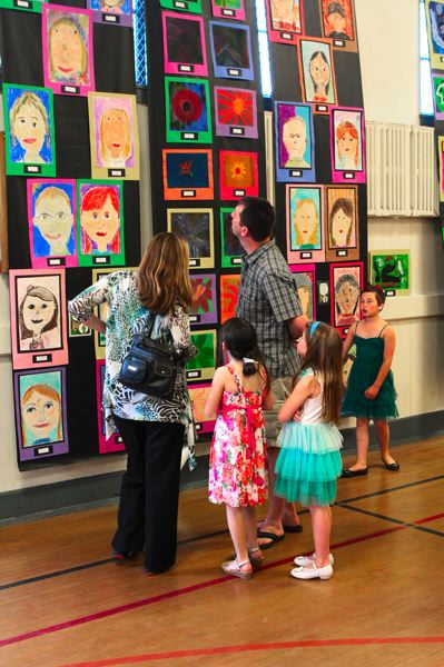 by: DAVID F. ASHTON - A large crowd gathered to enjoy the art created by Duniway Elementary School students during the 2012-13 school year.