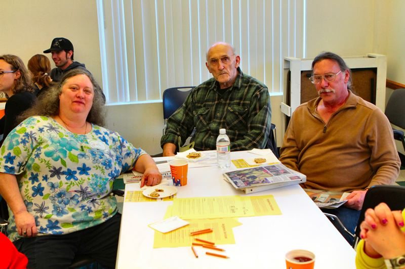by: DAVID F. ASHTON - Longtime BDNA volunteers and leaders Gale Kiely, Dick Hazeltine, and Malcom Handcock share experiences during in the visioning session.