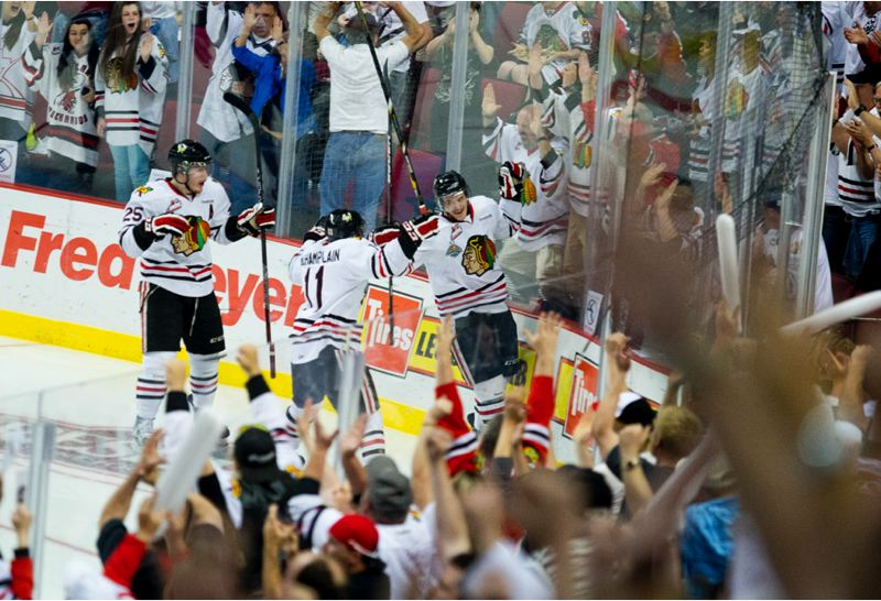 by: TRIBUNE PHOTO: CHRISTOPHER ONSOTT - The Portland Winterhawks had a couple of goals and moments to celebrate, but not quite enough of them, as they lost 3-2 in overtime to Edmonton Friday night at the Rose Garden.
