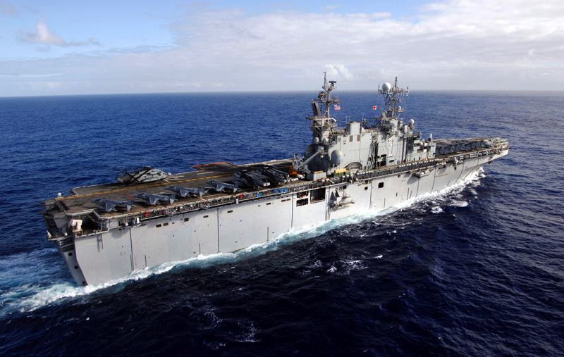 by: CONTRIBUTED PHOTO - The decommissioned USS Tarawa (LHA-1), an amphibious assault ship, is being held on reserve by the Navy with the possibility of it moving to a donation status unknown at this time.