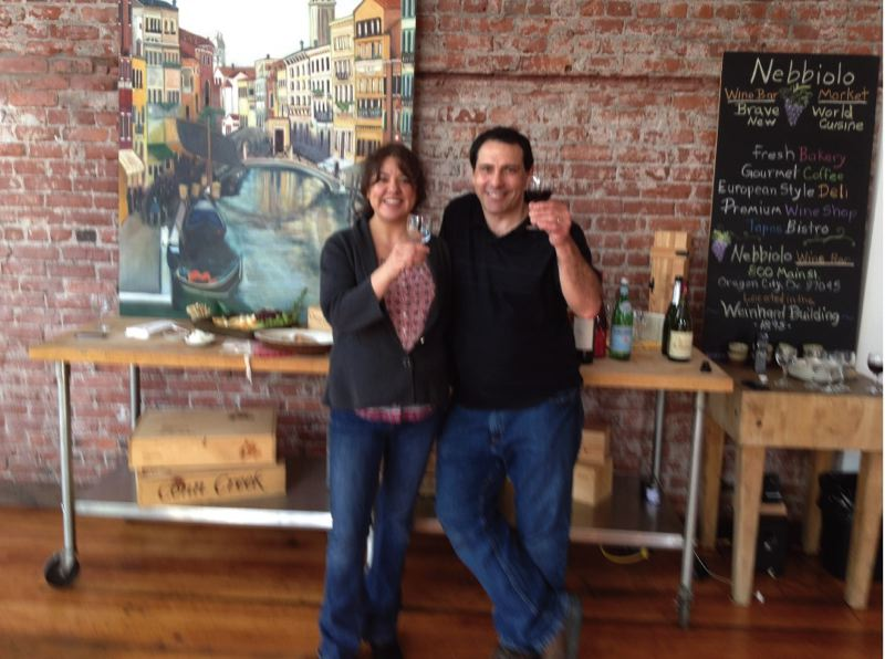 by: PHOTO COURTESY: MAIN STREET OC - Entrepreneurs Joe and Yvette Kirwin are seen at their new wine bar, Nebbiolo, in downtown Oregon City.