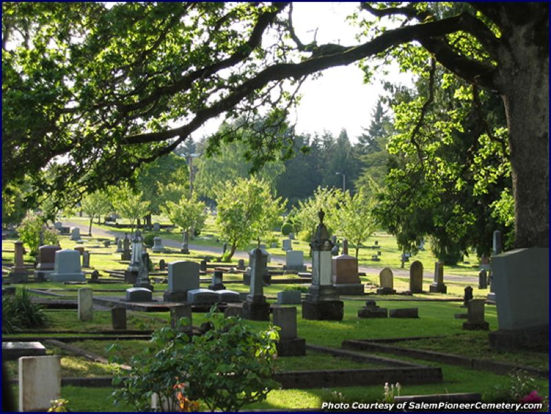 by: PHOTO COURTESY OF SALEM PIONEER CEMETERY - Salem Pioneer Cemetery, the largest historic cemetery in Salem, overlooks the capital city and Willamette Valley.