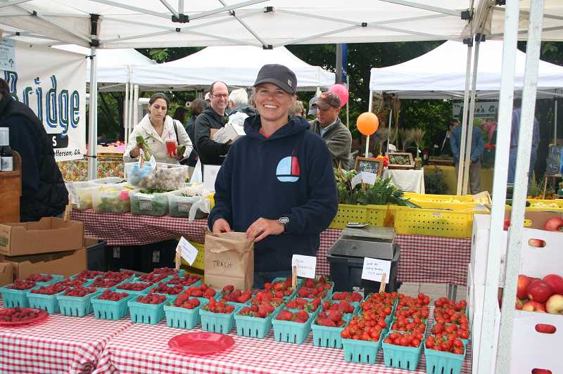 by: JAMIE INGLIS - Julie Traube of Greens Bridge Gardens will be back again to sell perhaps the most delicious strawberries in Oregon.