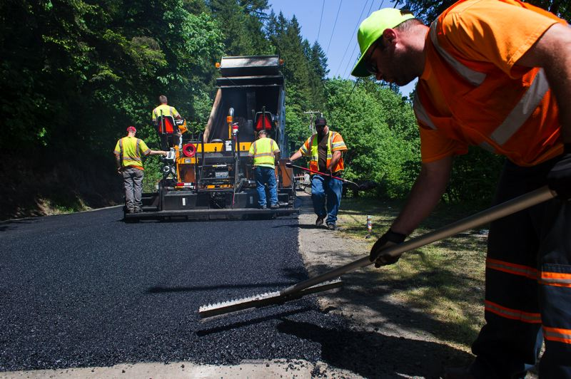 by: TRIBUNE PHOTO: CHRIS ONSTOTT  - Multnomah County closed its portion of Cornelius Pass Road on three consecutive Fridays to repair damage it blames on construction trucks coming Hillsboro. The patching is estimated to cost $40,000.